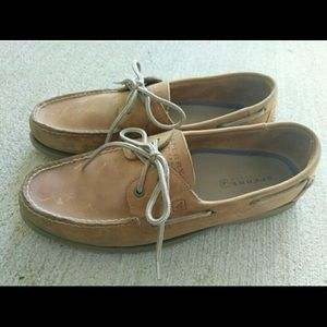 Speedy Top Sider Tan Boat Shoes